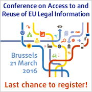 Conference on Access to and Reuse of EU Legal Information