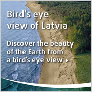Bird's eye view of Latvia