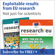 Research*eu magazines from CORDIS: Subsbribe for FREE