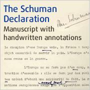 Manuscript of Schuman Declaration