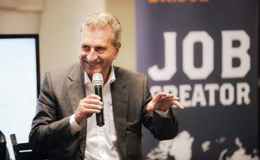 Image: Commissioner Günther Oettinger at 'Startup Europe Comes to Silicon Valley', bringing the best new EU tech start-ups and scale-ups to meet Silicon Valley stakeholders, San Francisco, United States, 23 September 2015. © European Union