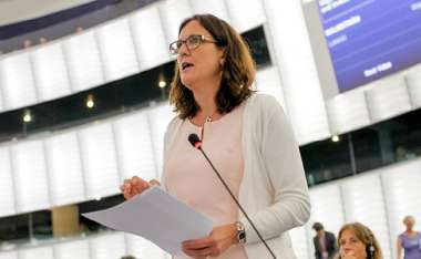 Image: Commissioner Cecilia Malmström presents the latest developments in the Transatlantic Trade and Investment Partnership negotiations, European Parliament, Strasbourg, 7 July 2015. © European Union