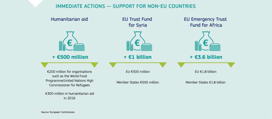 IMMEDIATE ACTIONS - SUPPORT FOR NON-EU COUNTRIES