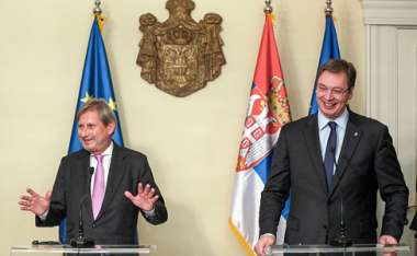 Image: Commissioner Johannes Hahn and Aleksandar Vučić, Prime Minister of Serbia, on the eve of the opening of the first chapter of Serbia's accession negotiation process, Belgrade, 10 December 2015. © European Union