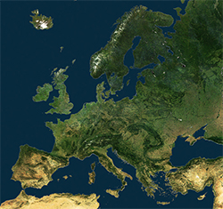 image for Maps page: map of Europe