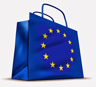 image for Consumer Rights page: blue shopping bag with 12 stars of EU