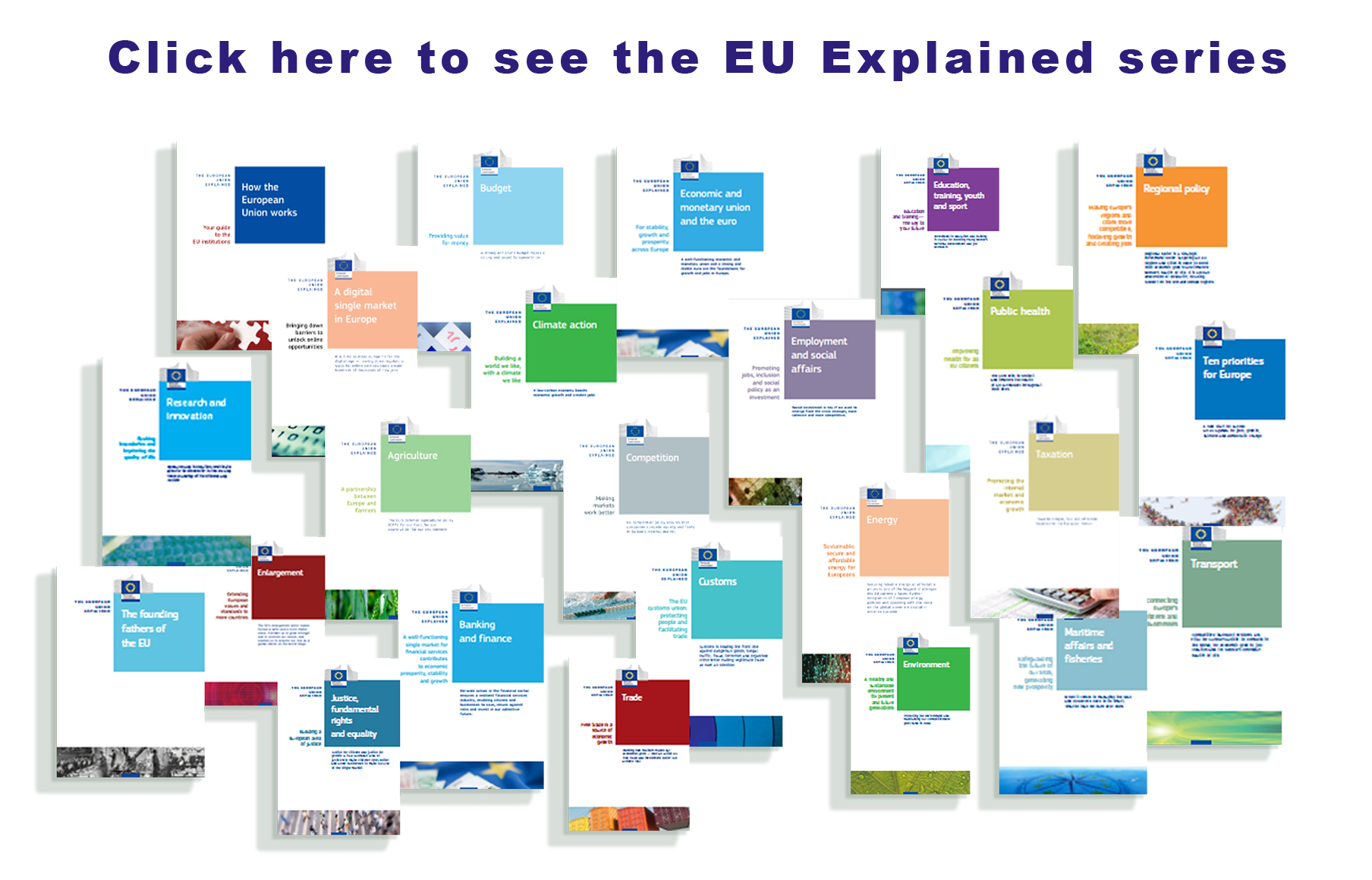EU explained series link to publications