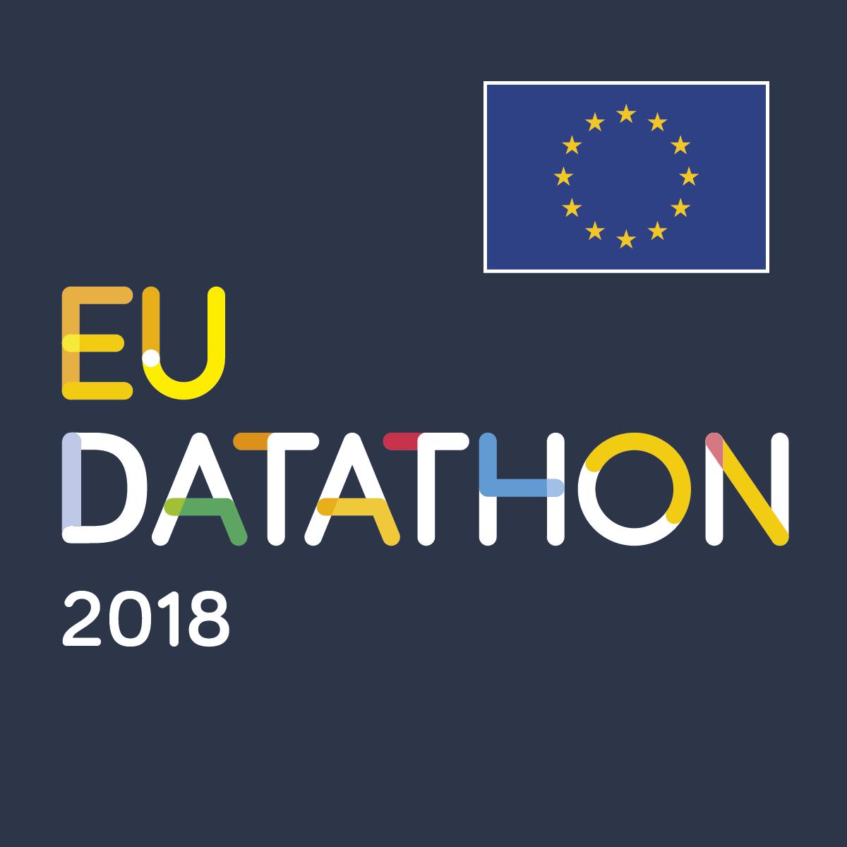 EU Datathon 2018 squared image black