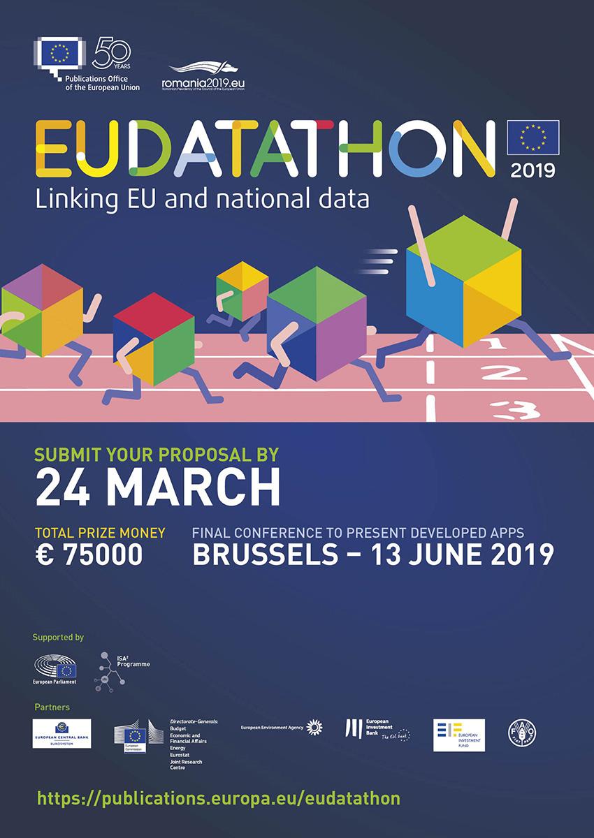 EU Datathon 2019 poster