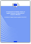 A framework for Member States to support business in improving its resource efficiency