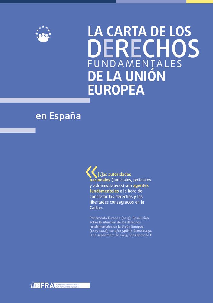 La Carta de los Derechos Fundamentales de la Unión Europea en España